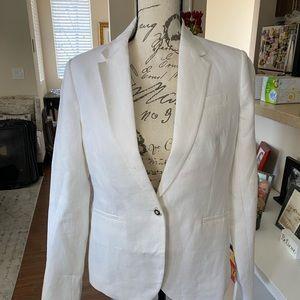 J. Crew white linen blazer NWT